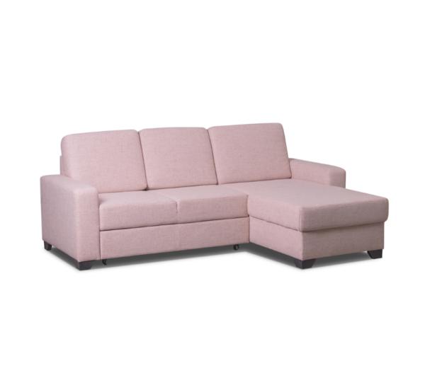 Rozkládací sedačka růžová
