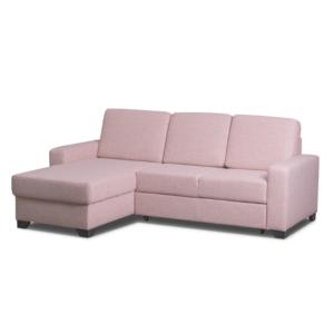 Rohová sedací souprava růžová 220 cm Mina S14